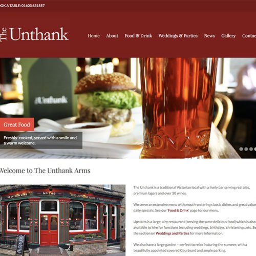 The Unthank Arms pub and restaurant.