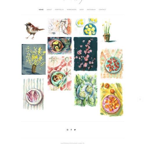 Laura Mckendry Portfolio website.